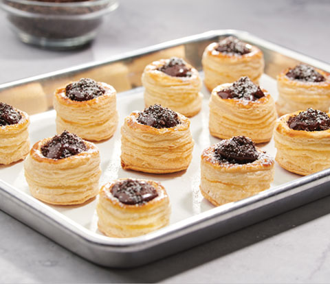 Pastry Bites filled with OREO Cookie Pieces Recipe