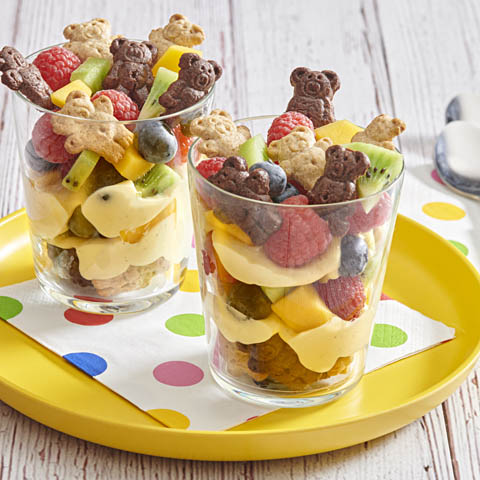 Teddy Over-the-Rainbow Fruit 'n Pudding Cups Recipe