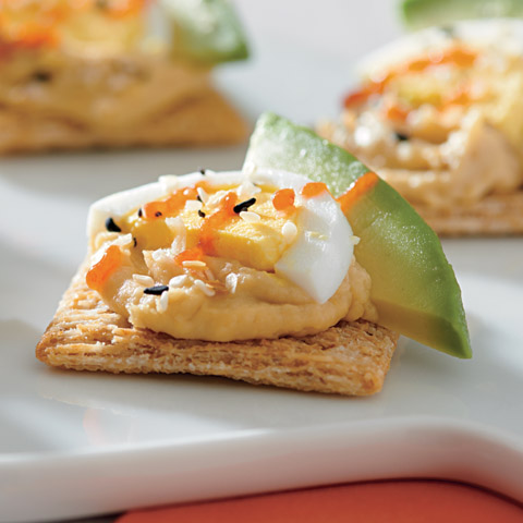 Everything Egg, Avocado and Hummus Toppers Recipe