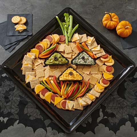 Halloween Jack-o'-Lantern Snacking Board Recipe