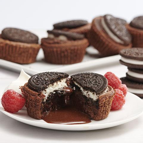 Gluten Free OREO Molten Lava Cakes Recipe