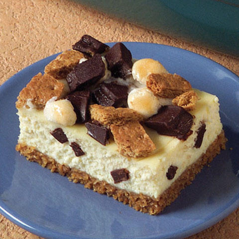 S'Mores Cheesecake Bars Recipe