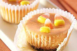 Easy Mini Cheesecake Jack-o'-Lanterns Recipe