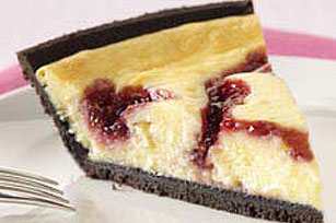 Easy White Chocolate-Raspberry Swirl Cheesecake Recipe