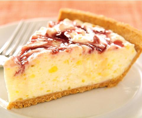 Zesty Lemon-Raspberry Swirl Pie Recipe