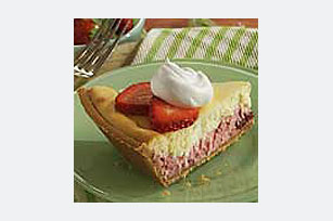 Easy Strawberry Layer Cheesecake Recipe