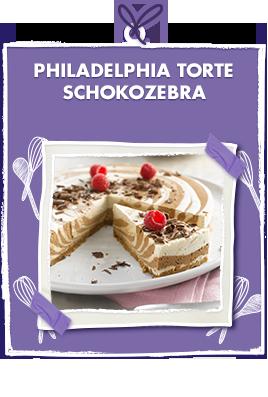 Philadelphia Torte Schokozebra