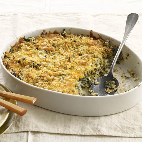 Crispy-Topped Creamy Spinach Recipe
