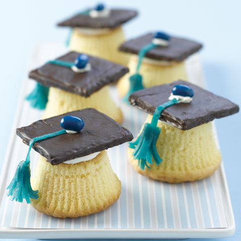 HONEY MAID Graduation Cupcaps Recipe