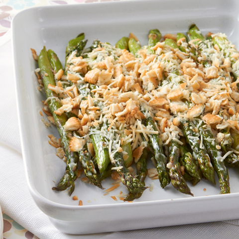 RITZ-Topped Creamy Baked Asparagus Recipe