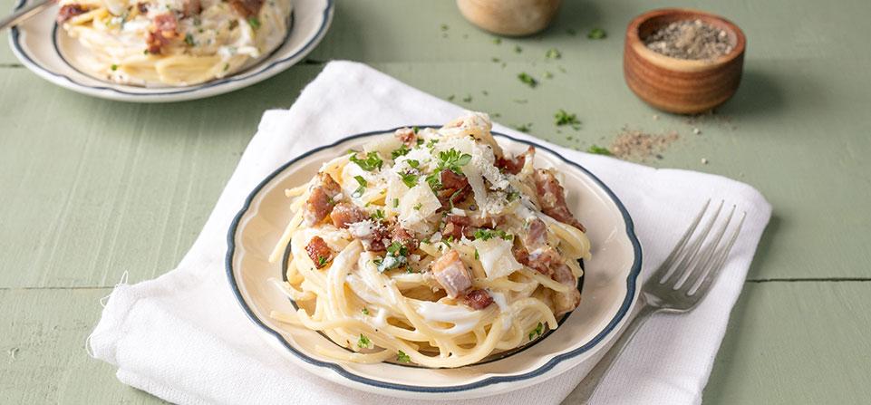 Philadelphia Recipe - Spaghetti Carbonara
