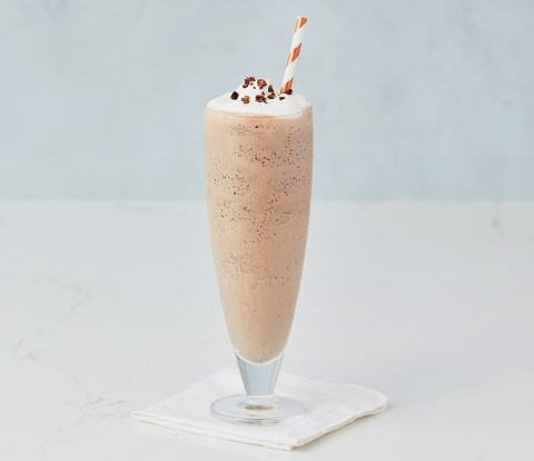 Cappuccino Cookie Milkshake made with OREO Cookie Pieces Recipe